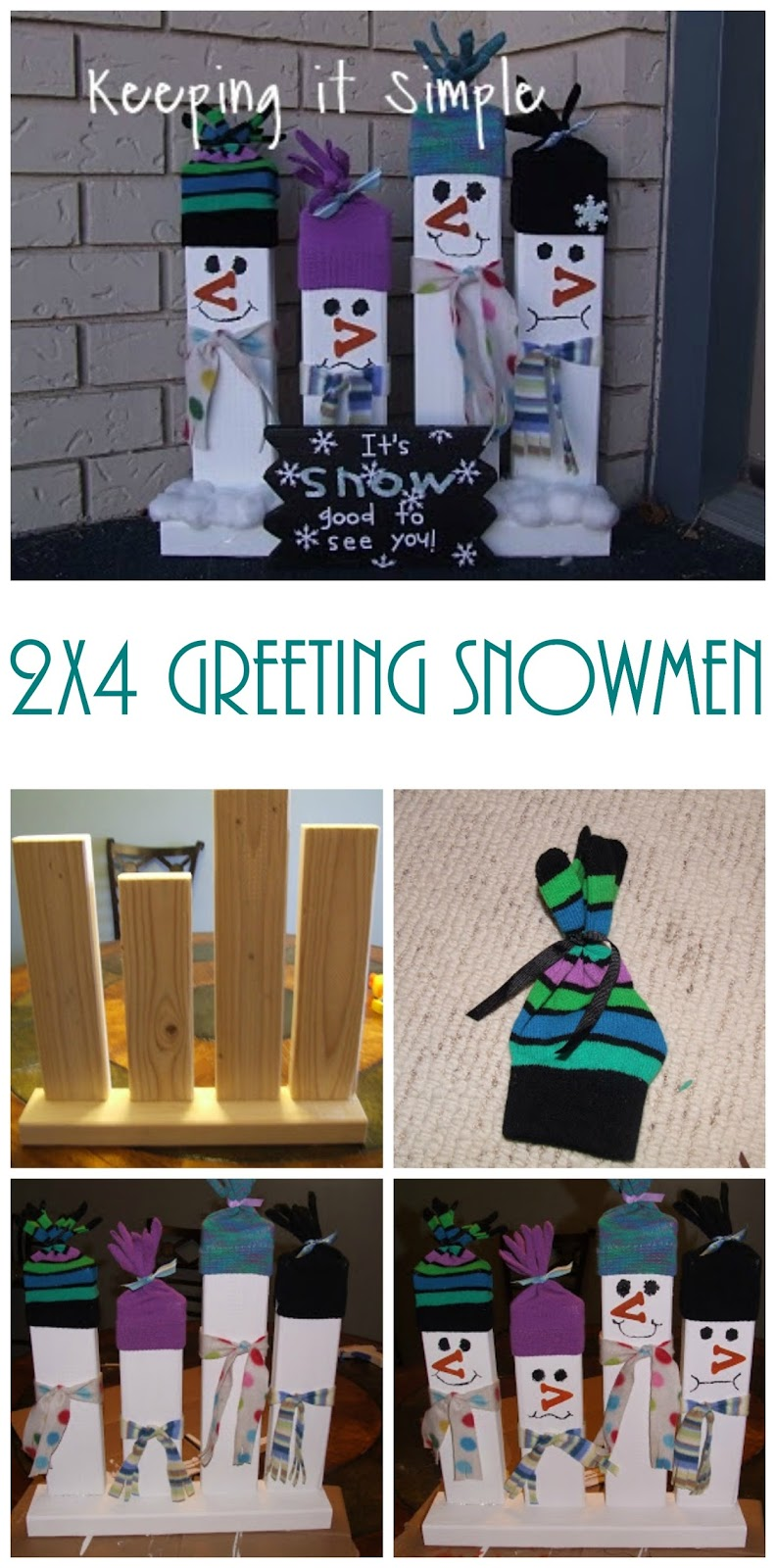 Easy christmas porch decoration 2x4 wood greeting for Cool things to build with 2x4s