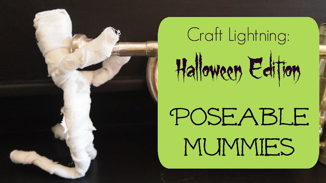 Have a little fun this Halloween crafting a poseable mummy with My Very Educated Mother!