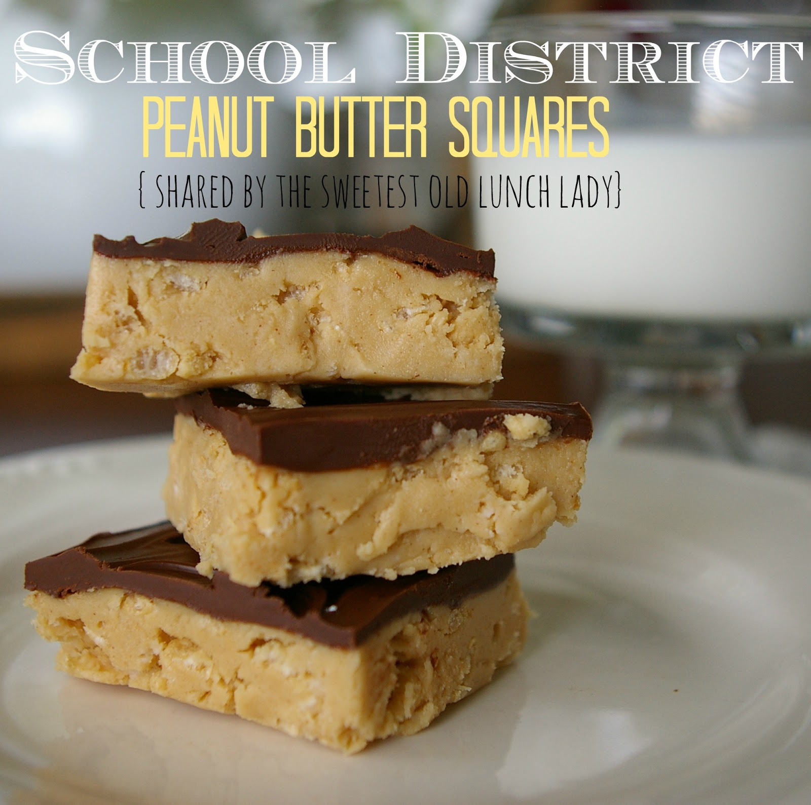 School district peanut butter squares