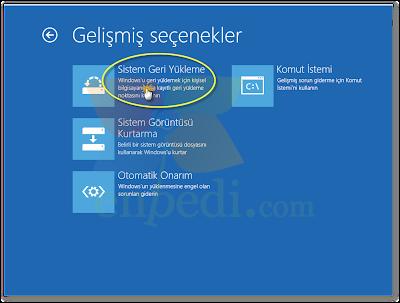enpedi 14 36 41 Windows 8 Sistem Geri Yükleme Nasıl Yapılır