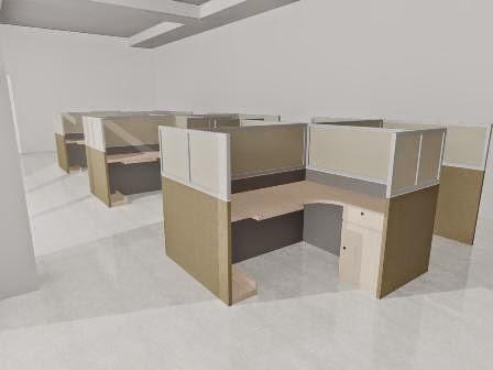 desain meja kantor 4 orang