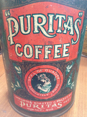 Antique Puritas Coffee Tin