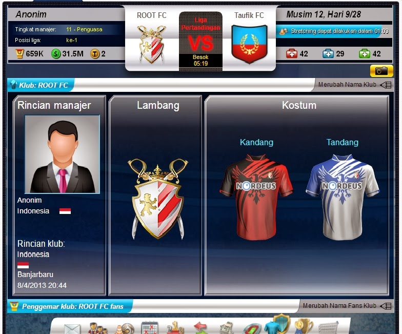 Tips Trik Top eleven ROOT FC