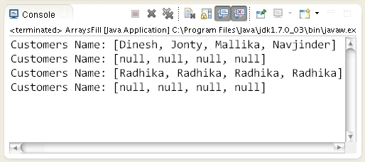 how to clear the original array in java