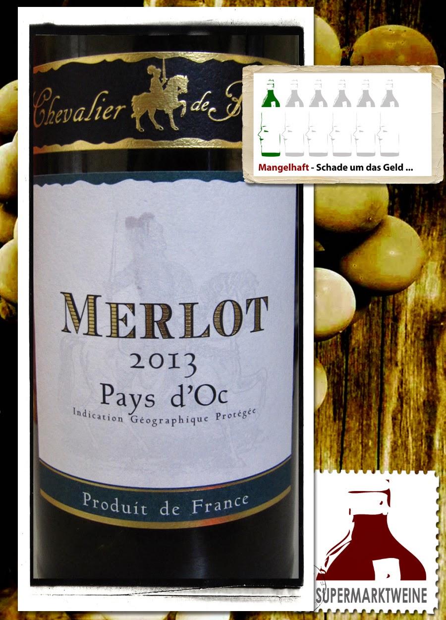 Chevalier de Fauvert, Merlot 2013 - Rotwein Lidl