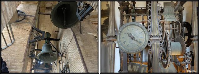 Séville la cathédrale minaret Giralda cloches et horloge