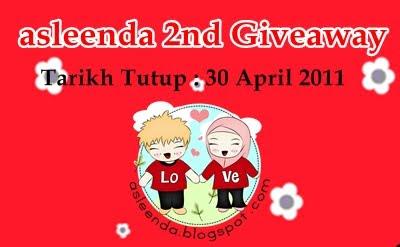 asleenda 2nd Giveaway