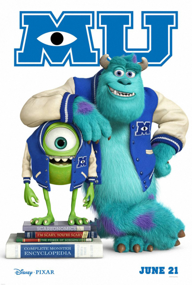 La  película Monsters University ( Monstruos University )