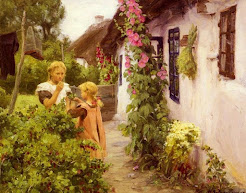 garden with children
