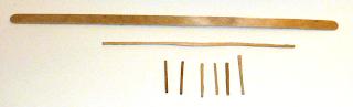 Original stirring stick, long horizontal fence support, upright individual pickets