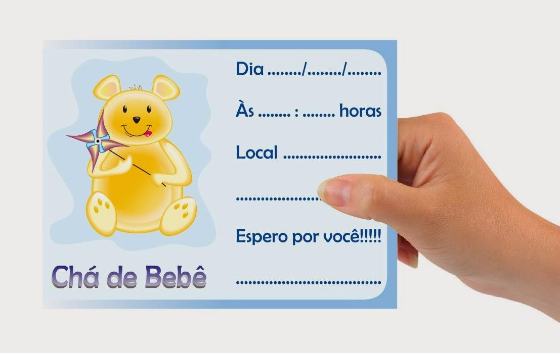 Convite para chá de bebê para imprimir 7