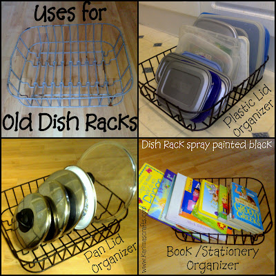 dish rack organizer upcycle muslim blog