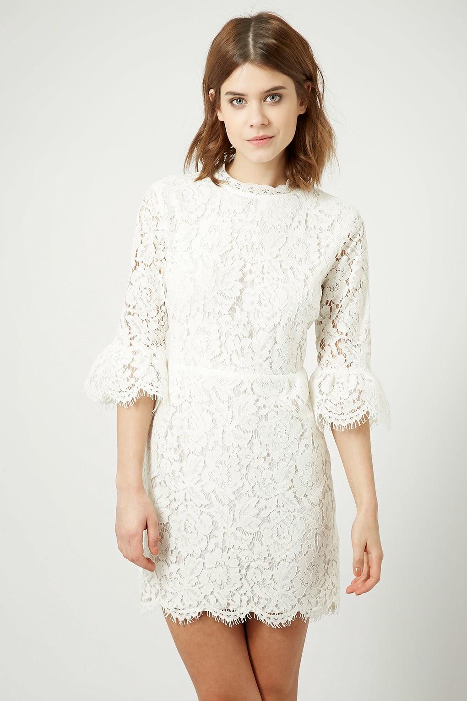 topshop white lace dress,