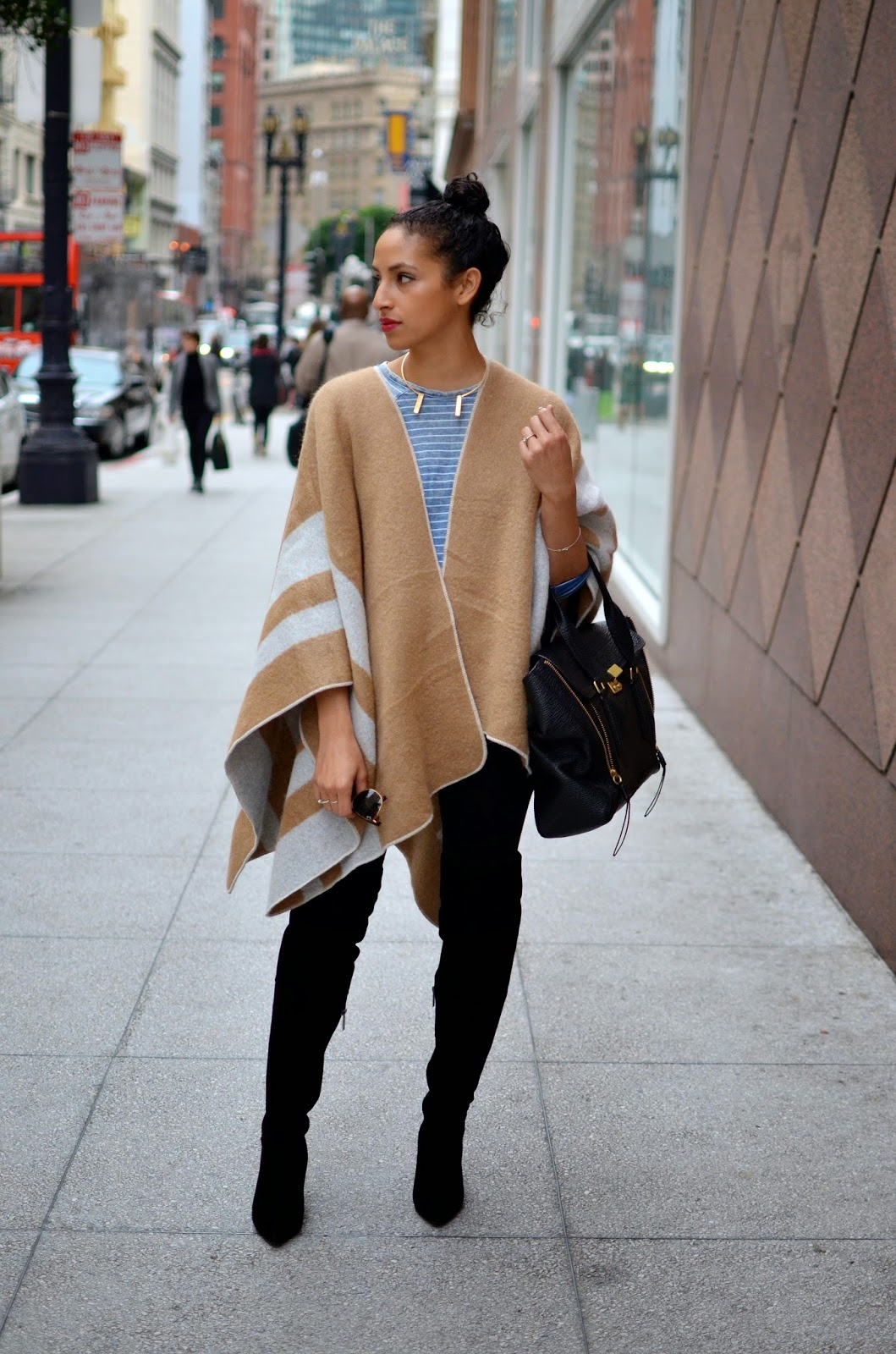SF style, camel cape, Zara cape, Pashli