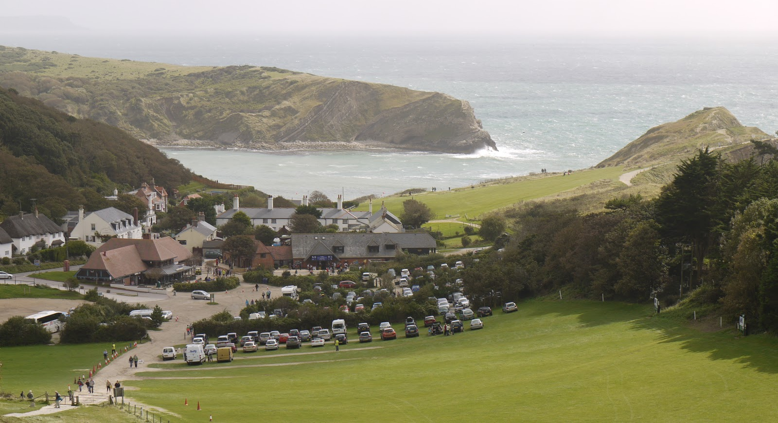 walking in the country  lulworth cove to white nothe  sw coast path 11