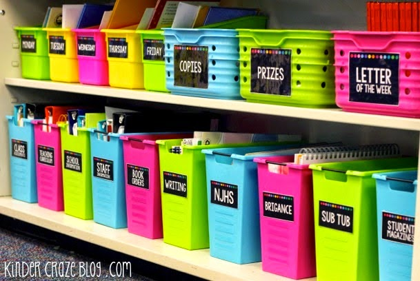 Classroom supply labels. Available for purchase on TpT