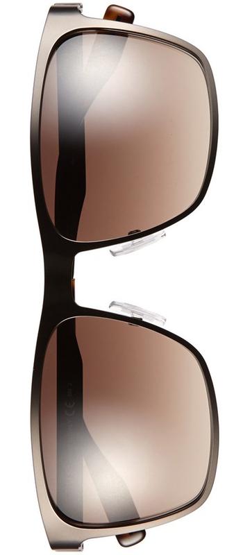 BOSS 57mm Polarized Sunglasses Matte Brown
