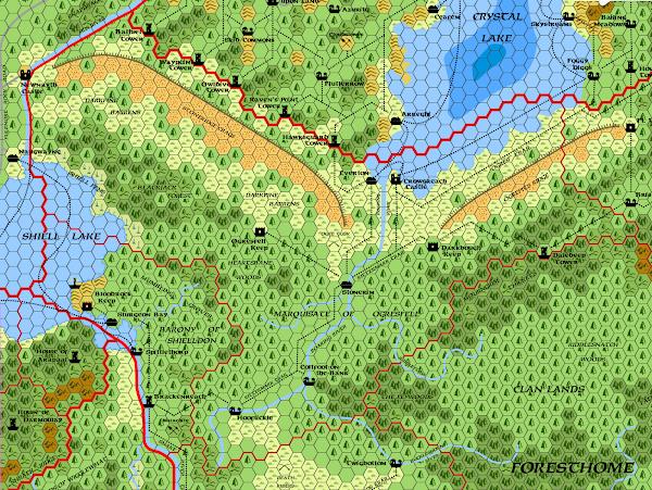 Mystara Alphatia Foresthome Ogresfell map