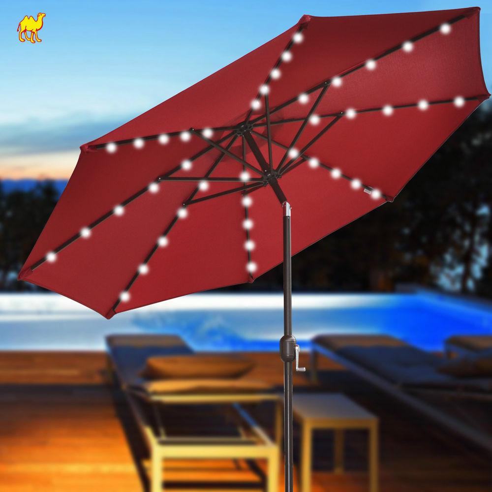 Patio Umbrella Solar Lights: Patio Umbrella With Solar Lights HD Wallpaper And Desktop