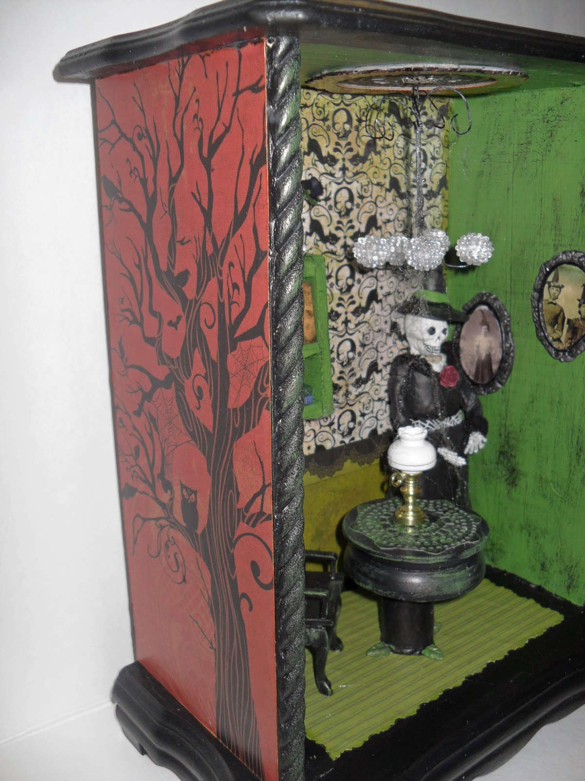 Witch shadow box diorama