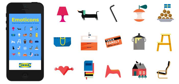 Ikea emoticons emoji sovellus