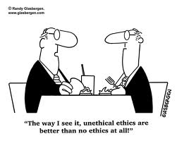 Lawyer ethics humor cartoon