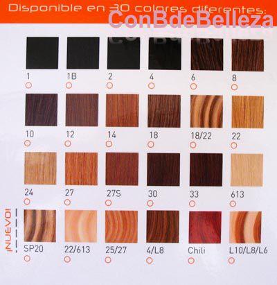 Colores extensiones