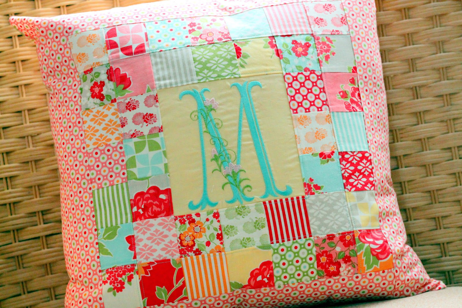 Quilted Pillowcase Patterns Free: Patchwork Pillow Pattern and Tutorial   The Cottage Mama,