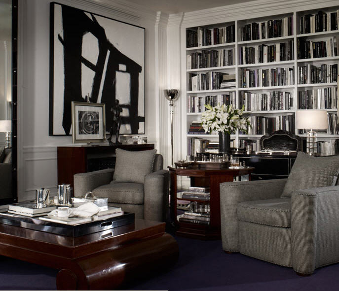 22 Best Art Deco Interior Design Ideas For Living Room: A Library Of Design: (More) Sublime Libraries