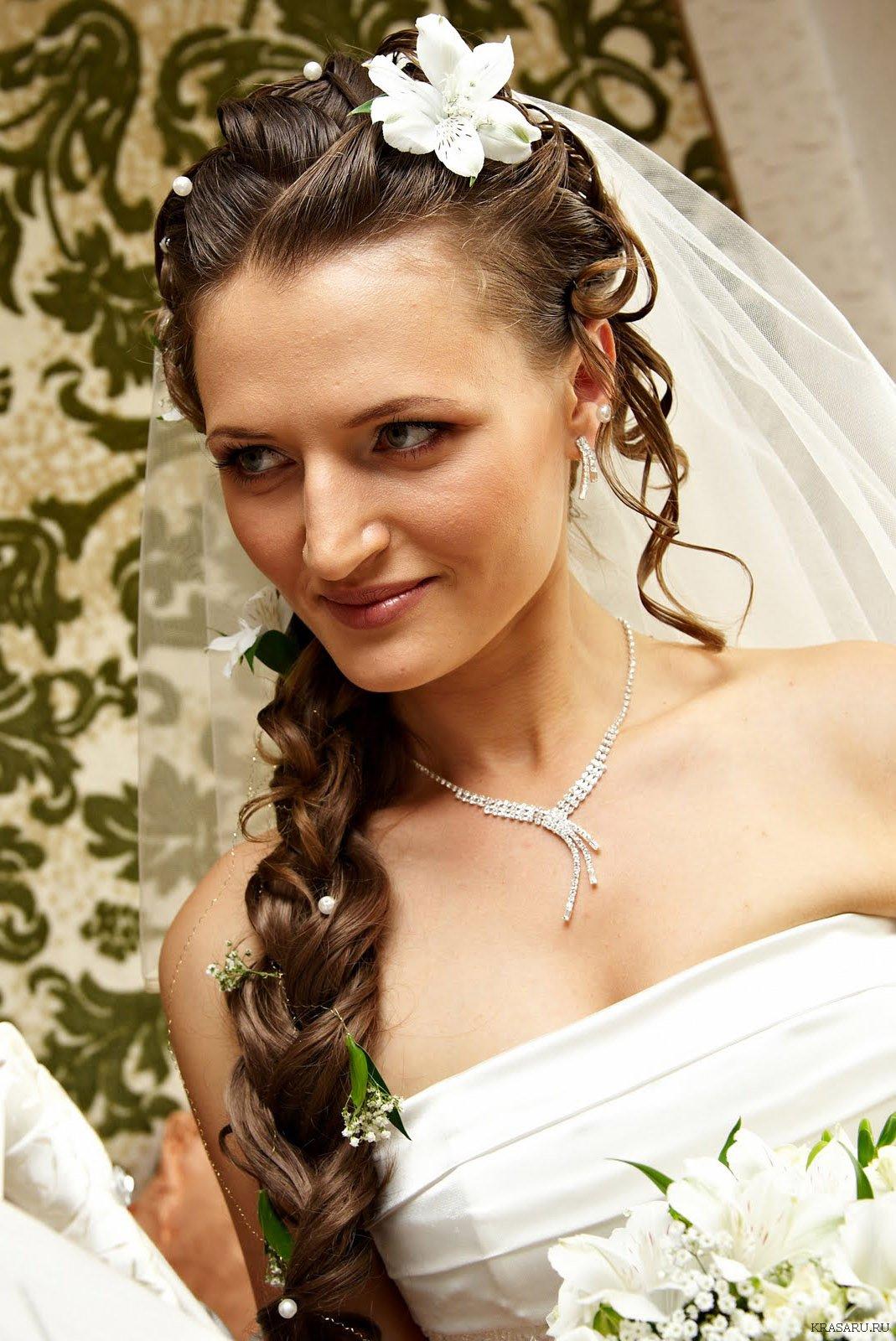 свадебные прически на длинные волосы днепропетровск