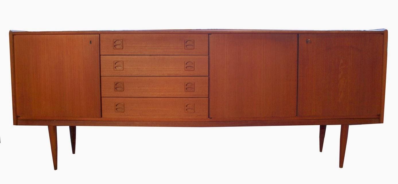 chicbaazar objets vintage 50 60 70 buffet enfilade scandinave en teck blond 1960. Black Bedroom Furniture Sets. Home Design Ideas