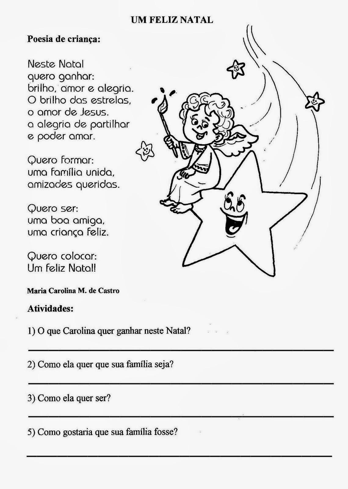 Populares Blog Professor Zezinho : Atividades de Natal - Textos para  MP36