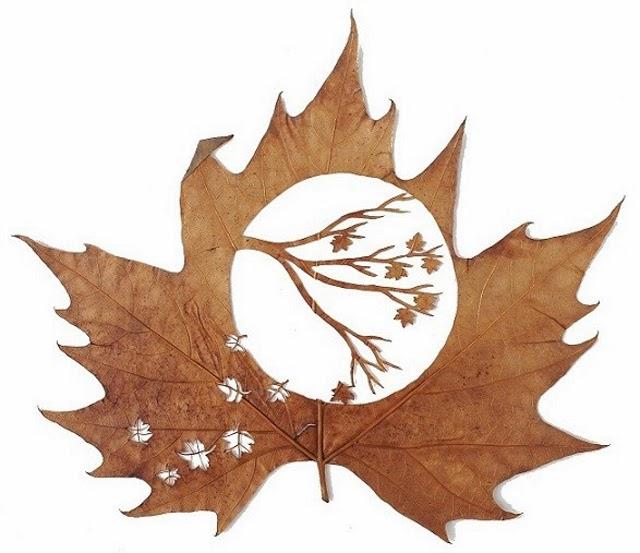 Sztuka z liści czyli czas na Środowe Inspiracje! Inpsirujące blogi handmade