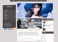 Project 10 Fashion Blogger template with slider by sora template