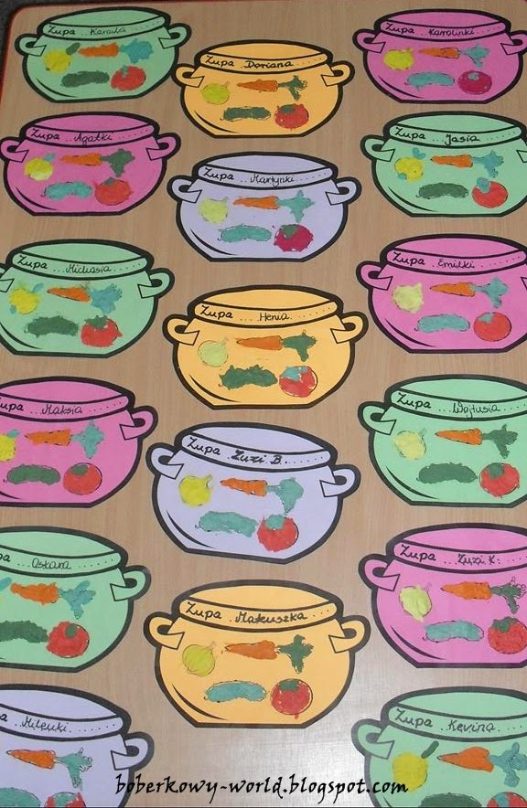 Boberkowy World Zupa Jarzynowa Praca Plastyczna