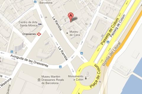 Museo de Cera de Barcelona Mapa