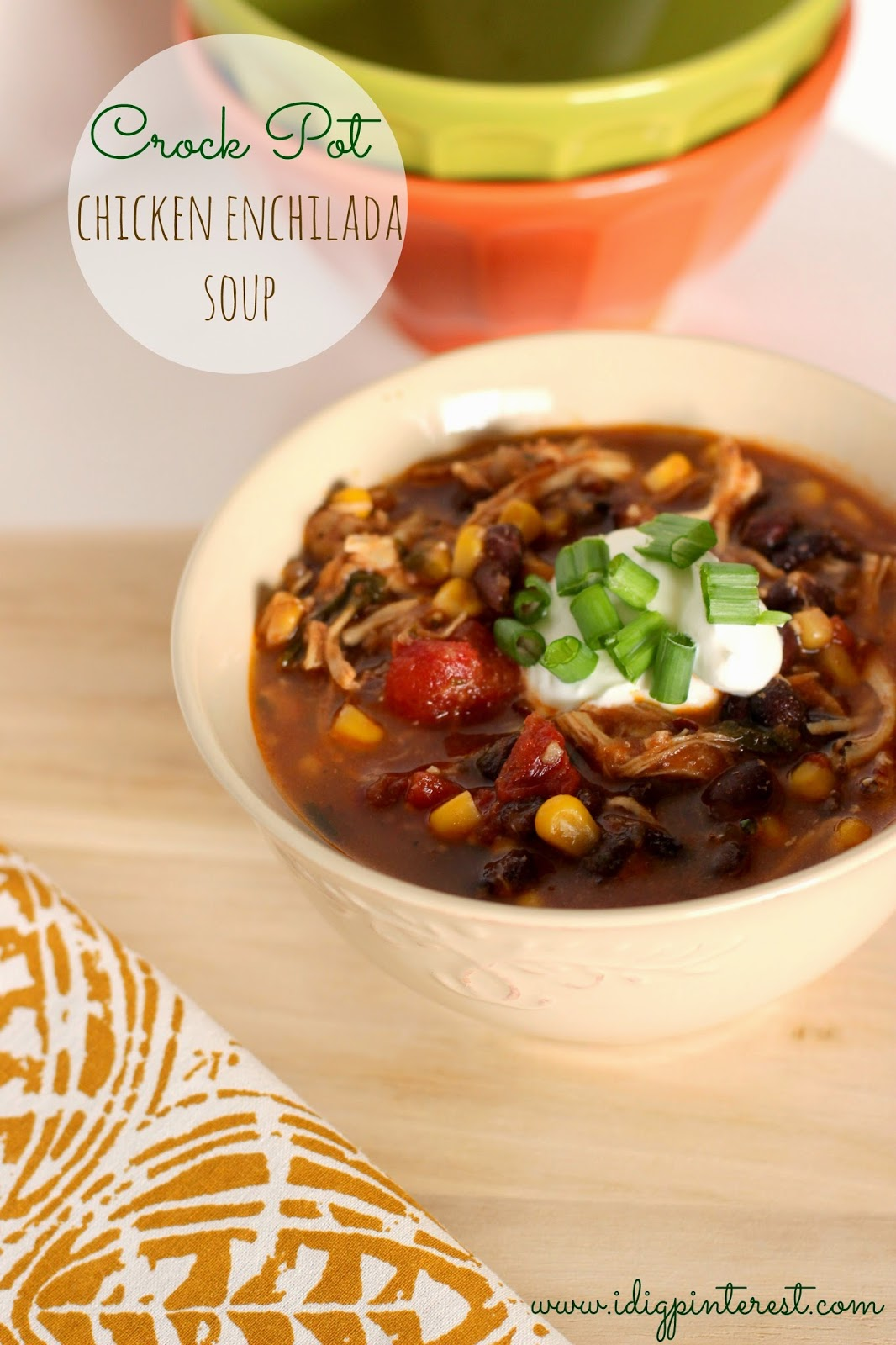 Dig Pinterest: Skinny Crock Pot Chicken Enchilada Soup