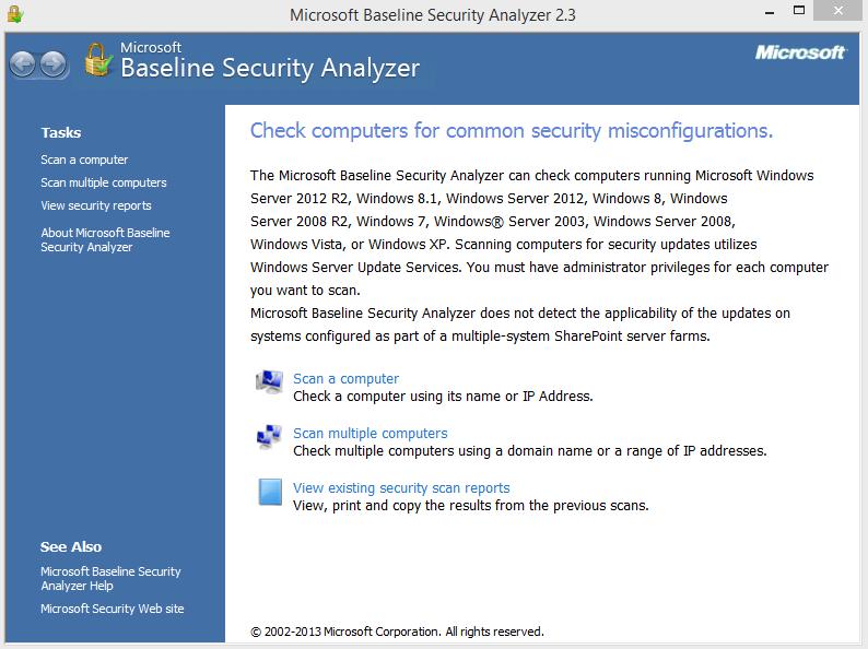 Baseline Security Analyzer