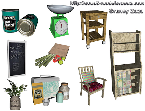 My sims 3 blog new kitchen decor by granny zaza for Sims 3 kitchen designs