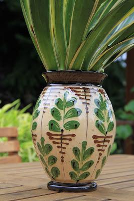 Kähler Vase and Yucca gloriosa 'Variegata'