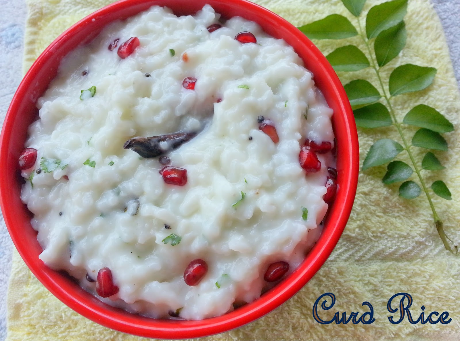 Curd Rice Thayir Sadam South Indian Yogurt Recipe Healthy Lunch Box