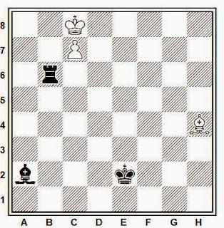 Estudio artístico de ajedrez compuesto por J. E. Peckover (1º Premio, Problem 1958-59)