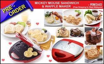 MICKEY MOUSE SANDWICH & WAFFLE MAKER