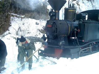 Mocanita Steam Locomotive -Mariuta- in Snow