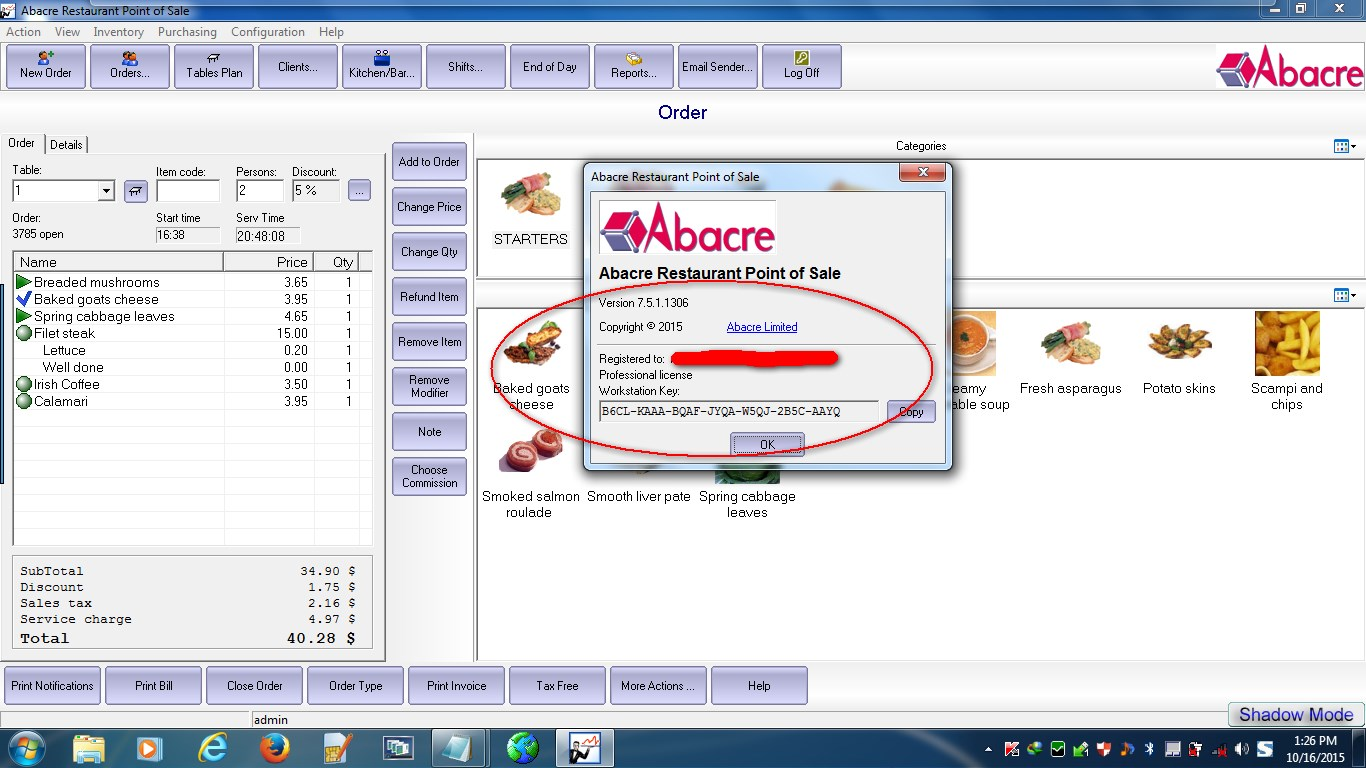 Abacre Restaurant Point of Sale (free version) download for PC