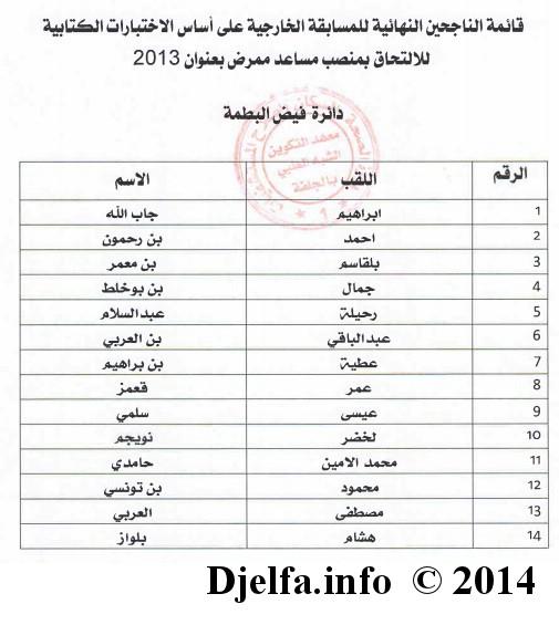 قائمة الناجحين في مسابقة الشبه الطبي (مساعد ممرّض) لولاية الجلفة 17.jpg