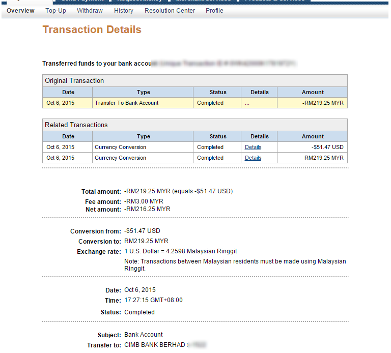 how to cancel paypal transaction from bank