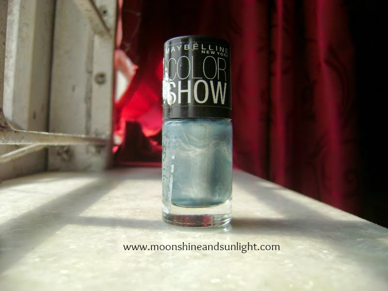 Maybelline Color Show Miss-You-Blue review and swatches
