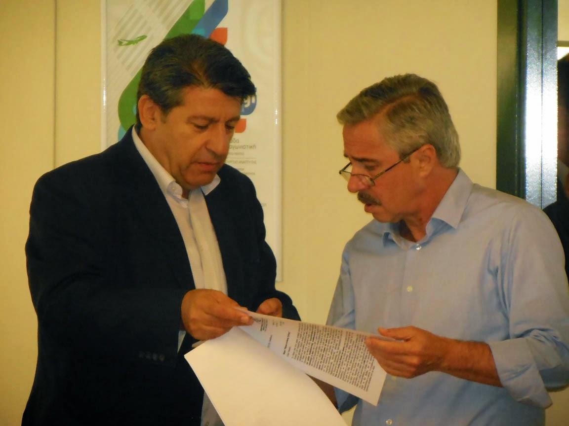 Σύσκεψη με τον Υπουργό ΠΕΚΑ για το ΣΟΑΠ Δυτικής Αθήνας «60 Δράσεις για τη Δυτική Αθήνα»
