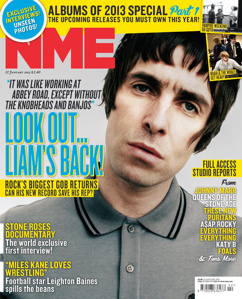 Liam Gallagher's On The Front Of This Week's NME Magazine